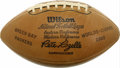 Football Collectibles:Balls, 1966 Green Bay Packers Team Signed Football. If one were forced to choose a single artifact to represent 1960's professiona...