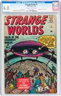 Silver Age (1956-1969):Science Fiction, Strange Worlds #1 (Atlas, 1958) CGC FN 6.0 Off-white to whitepages....