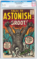 Silver Age (1956-1969):Science Fiction, Tales to Astonish #13 (Marvel, 1960) CGC VG- 3.5 Off-white to whitepages....