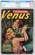 Golden Age (1938-1955):Horror, Venus #19 (Timely, 1952) CGC GD 2.0 Off-white to white pages....