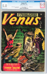 Venus #17 (Timely, 1951) CGC VG/FN 5.0 Off-white to white pages