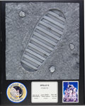 Explorers:Space Exploration, Apollo 12 Full-Size Replica of a Lunar Boot Footprint on Plaque....