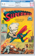 Golden Age (1938-1955):Superhero, Superman #8 (DC, 1941) CGC VF/NM 9.0 Cream to off-white pages....