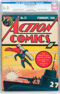 Golden Age (1938-1955):Superhero, Action Comics #21 (DC, 1940) CGC FN 6.0 Cream to off-white pages....