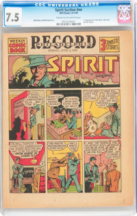 The Spirit (weekly newspaper insert) 6/2/40 (Philadelphia Record, 1940) CGC VF- 7.5 Cream to off-white pages