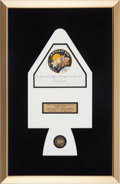 Explorers:Space Exploration, Apollo 13 Flown Beta Cloth Mission Insignia in Framed Display, Originally from the Personal Collection of Mission Commander Ja...