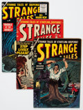 Silver Age (1956-1969):Science Fiction, Strange Tales Group (Atlas, 1954-56) Condition: Average VG....(Total: 4 Comic Books)