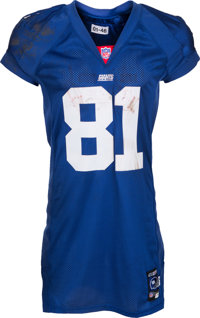 2001 Amani Toomer Game Worn New York Giants Jersey With NFL Provenance. am