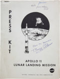 Explorers:Space Exploration, Apollo 11 Vintage NASA Press Kit Signed by Buzz Aldrin, Originally from His Personal Collection. ...