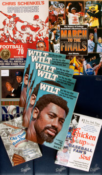 [Sports]. Group of Fourteen Books, Mostly Autographed by Sports Stars. Various publishers and dates