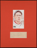 Baseball Collectibles:Others, 1940's Eddie Collins Signed Cut with Perez-Steele Hall of FamePostcard....