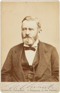 Photography:CDVs, Ulysses S. Grant Signed and Inscribed Cabinet Card...