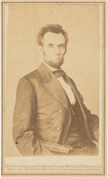 Photography:CDVs, Abraham Lincoln Carte de Visite....