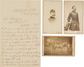 Autographs:Military Figures, Union General Charles Griffin Three Cartes de Visit and One War-dated Autograph Letter Signed.... (Total: 4 Items)