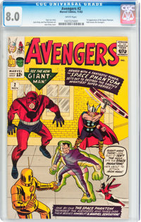 The Avengers #2 (Marvel, 1963) CGC VF 8.0 White pages
