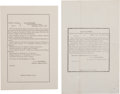 Miscellaneous:Ephemera, [Lincoln Assassination] General Field Orders No. 29 and GeneralOrders No. 72. ... (Total: 2 )