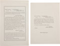 Miscellaneous:Ephemera, [Abraham Lincoln] Funeral Order: General Orders No. 66 & 67....(Total: 2 )
