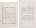 Miscellaneous:Ephemera, [Lincoln Assassination] George Meade's General Orders No. 15 andGideon Welles' General Order No. 51.... (Total: 2 )