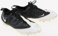 Football Collectibles:Others, 2009 Braylon Edwards Game Worn New York Jets Cleats....