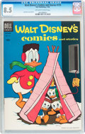 Golden Age (1938-1955):Cartoon Character, Walt Disney's Comics and Stories #170 (Dell, 1954) CGC VF+ 8.5Off-white to white pages....