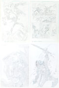 Original Comic Art:Splash Pages, Kyle Hotz Ghost Rider 2099/Shaft/Badrock Original Art(undated).... (Total: 4 )