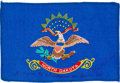 Explorers:Space Exploration, Apollo 14 Flown North Dakota State Flag Directly from the PersonalCollection of Mission Lunar Module Pilot Edgar Mitchell, Si...