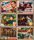 "Movie Posters:Western, Code of the Cactus & Others Lot (Victory, 1939). Title LobbyCards (2) & Lobby Cards (4) (Approximately 11"" X 14"").Western.... (Total: 6 Items)"