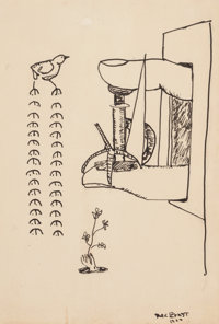 MAX ERNST (German, 1891-1976) Untitled, 1922 India ink on paper 7-1/2 x 5-5/8 inches (19.1 x 14.3