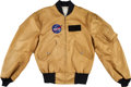 Explorers:Space Exploration, Apollo 13 NASA Mustard Yellow Flight Jacket Originally from thePersonal Collection of Mission Command Module Pilot Jack Swige...