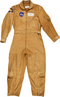 Explorers:Space Exploration, Apollo 13 NASA Mustard Yellow Flight Suit Originally from the Personal Collection of Mission Command Module Pilot Jack Swigert...