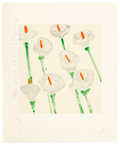 Fine Art - Work on Paper:Print, DONALD SULTAN (American, b. 1951). Lilies and OrangeFlowers (two works), 1998; 1996. Screenprint in colors on wove... (Total: 2 Items)