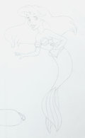 Animation Art:Production Drawing, Disney Princesses Ariel and Jasmine Consumer Product ConceptDrawing (Disney, 1990s)....