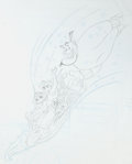 Animation Art:Production Drawing, Aladdin Video Release In-Store Poster Preliminary Drawing(Walt Disney, 1993).. ...