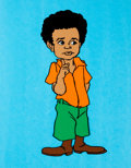 Animation Art:Production Cel, The Little Rascals Buckwheat Model Cel (Hanna Barbera,1982)....