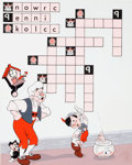 Animation Art:Production Drawing, Puzzle Time Magazine #45 Pinocchio Crossword PuzzleIllustration (Walt Disney, 1973)....