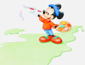 Animation Art:Production Drawing, Mickey Wonders Why How Does aChameleon Change Color? Page 15 and 16 Illustrat...