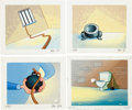 """Animation Art:Maquette, Scott Wills The Ren & Stimpy Show """"Pen Pals"""" Background Group (Spumco/Paramount, 1995).... (Total: 4 Items)"""