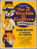"""Movie Posters:Fantasy, The 3 Worlds of Gulliver (Columbia, 1960). Silk Screen Poster (30"""" X 40""""). Fantasy.. ..."""