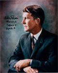 Autographs:Celebrities, Wally Schirra Signed Color Photo. ...