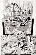 Original Comic Art:Panel Pages, Jim Lee and Scott Williams Uncanny X-Men #275 Page 6Wolverine and Deathbird Original Art (Marvel, 1991)....