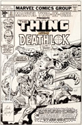 Original Comic Art:Covers, Jack Kirby and Joe Sinnott Marvel Two-In-One #27 CoverFantastic Four and Deathlok Original Art (Marvel, 1977).... (Total:2 Items)