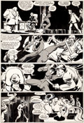 Original Comic Art:Panel Pages, Frank Miller and Klaus Janson Daredevil #188 Page 15 BlackWidow Original Art (Marvel, 1982)....