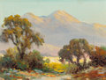 Fine Art - Painting, Russian, HERBERT SARTELLE (American, 1885-1955). California Landscapes (two works). Oil on canvasboard, each. 6 x 8 inches (15.2 ... (Total: 2 Items)