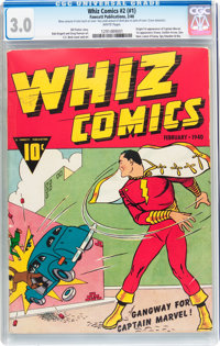 Whiz Comics #2 (#1) (Fawcett Publications, 1940) CGC GD/VG 3.0 White pages