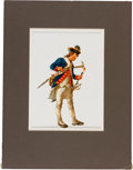 "Military & Patriotic:Revolutionary War, Revolutionary War: Original Don Troiani Watercolor ""A RoyalArtillery Gunner 1781""...."