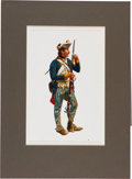 "Military & Patriotic:Revolutionary War, Revolutionary War: Original Don Troiani Watercolor ""Private Brunswick Regiment Battle of Saratoga""...."