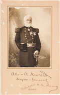 Photography:Studio Portraits, Union Major General and Medal of Honor Recipient Oliver Otis Howard Signed Photograph....