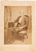 Photography:Cabinet Photos, Large Albumen Image of Confederate President Jefferson Davis, Circa1889....