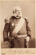 Photography:Cabinet Photos, Major General John McAlister Schofield Signed Cabinet Card....