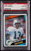 Football Cards:Singles (1970-Now), 1984 Topps Dan Marino #123 PSA Gem Mint 10. ...